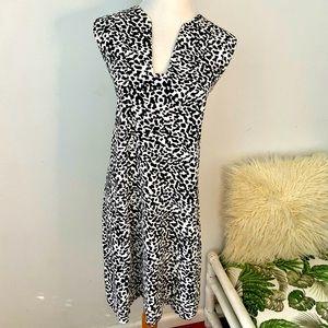 Mango Basics Size M ( AU 10 ) Black & White Dress